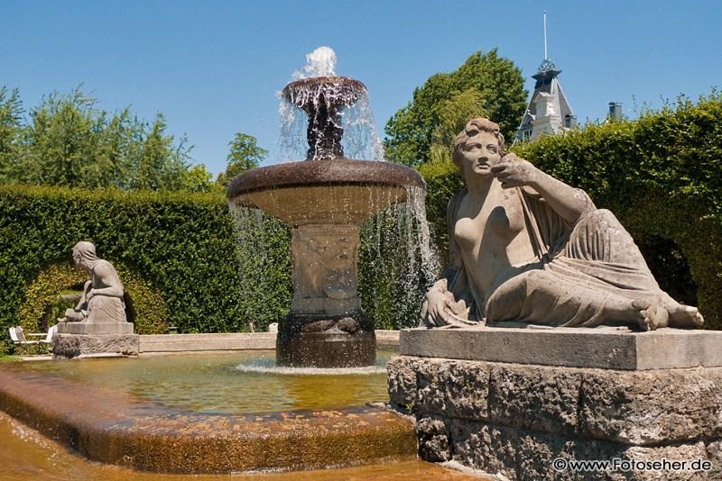 Stadt Baden-Baden, Lichtentaler Allee und die Gönneranlage mit Rosengarten