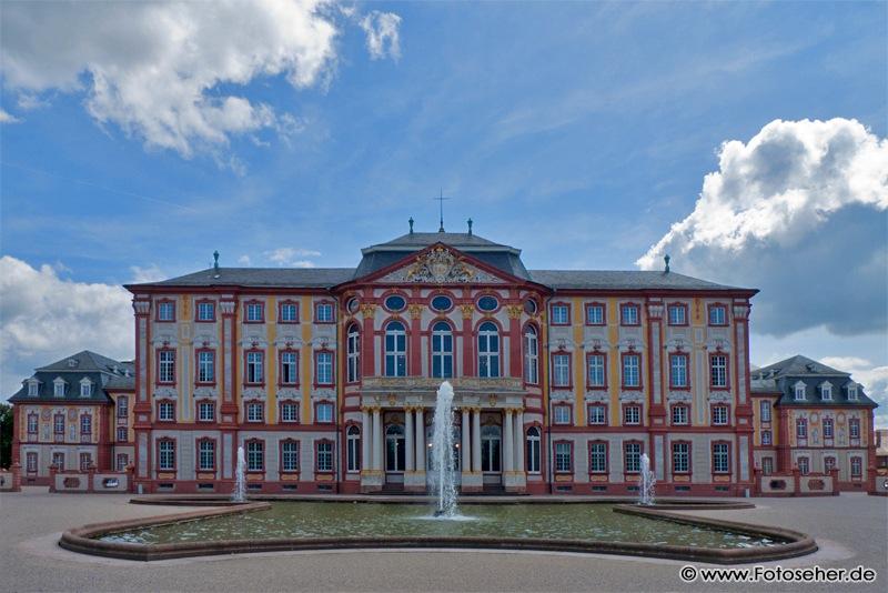 Fotos und Panoramafotos vom Barockschloß Bruchsal mit Schloßgarten